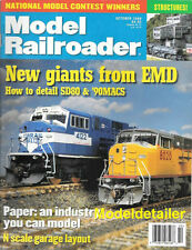 Model Railroader Oct.1998 EMD SD80 90MAC Paper Industry Structures N Scale Track