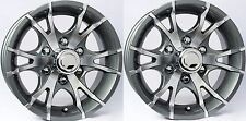 """TWO (2) Aluminum Sendel Trailer Rims Wheels 6 Lug 15"""" T07 V-Spoke Gray/Style"""