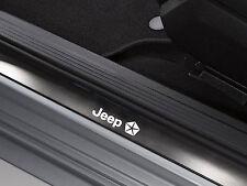 6 x Jeep Aufkleber für Einstiegsleisten Wrangler Cherokee Patriot Emblem Logo