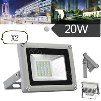 2X 20W Cool White LED Flood Light Outdoor Security Work Light Spot SMD Lamp 110V