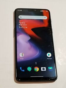 Oneplus 6 - A6003 Dual Sim -64GB - Midnight Black - GSM unlocked #Sp243
