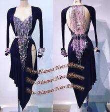 L920 Ballroom Latin Rhythm Salsa Rumba Samba Dance dress US 6 black