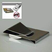 Double Sided Holder Card Clamp Cash ID Slim Stainless Steel Money Clip Wallet