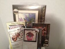 NEW Lot of 5 Sealed Dimensions Gold Collection Petites Design Works Cross Stitch