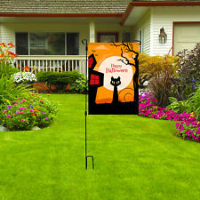 "Happy Halloween Garden Flag, Holiday Halloween Yard Lawn Party Decor, 12"" x 18"""
