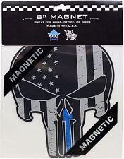 "Chicago Police Memorial Foundation Punisher Blue Line Magnet 8"""
