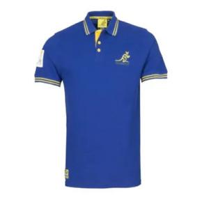 Australia Rugby Wallabies Official Men's First XV Polo Shirt - Blue - New