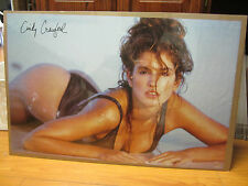 Poster Hot girl super model Cindy crawford man cave car garage 1991 475
