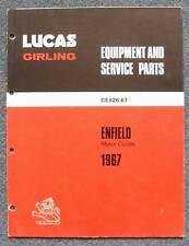 Lucas Enfield Motos Repuestos lista 1967 #ce 826/67