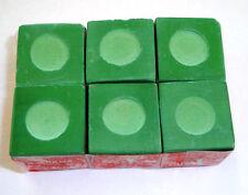 6 Pieces of Green Pool Billiard Chalk 1/2 Dozen Cue Q Tip Table Free Shippin NEW