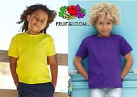 FRUIT OF THE LOOM maglietta T-shirt BAMBINO BABY BOY GIRL manica corta GRATIS #