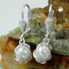 Brisur perle Imitat-weiß Silber 925 A27929