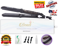 Professional Steam Hair Straightener Iron work with Argan Oil Infusion Treatment