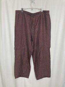 Addiction Lounge Pants Men's Size Large (28-30) Red & Blue Weave Print Satin
