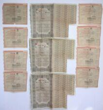 LOT BON AU PORTEUR 8 PANAMA 1889 3 VICTORIA A MINAS  BRÉSIL 1929 A631