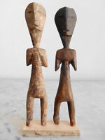 2 Statuettes Fétiches AKLAMA ADAN ADA EWE 20cm+21cm ART TRIBAL PRIMITIF AFRICAIN