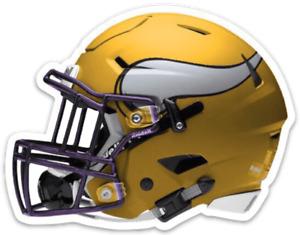 Minnesota Vikings Gold Helmet w/ Horned Logo Type Die-cut MAGNET