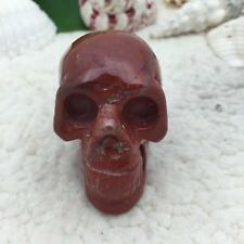"""1.9"""" Natural Red stone Carved Crystal Skull Realistic Crystal Healing  #2166"""