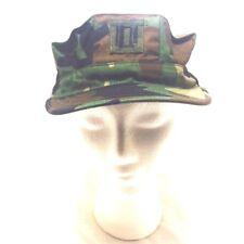 Camouflage Military Hat Type II Lieutenant Captain rank Cap Size Medium BDU