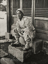 1929 KOREA Vintage Photo Gravure SEOUL HOKKAN-ZAN KOREAN Boy Asian Art By GRAEFE