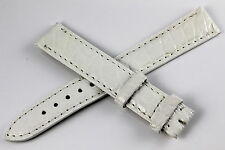 CARTIER Bracelet/Band Caiman 15/14mm Blanc  pour montre TANK Boucle Ardillon