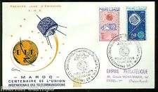 MORROCO  CENTENARY OF THE INT'L TELECOMMUNICATION UNION SET  FIRST DAY COVER