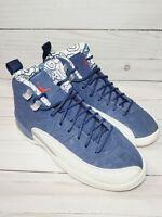 Nike Air Jordan 12 XII Retro PRM GS Basketball Shoes Blue BV8017-445 Size 4.5Y