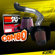For 05 Ford Expedition 5.4L V8 Polish Cold Air Intake + K&N Air Filter
