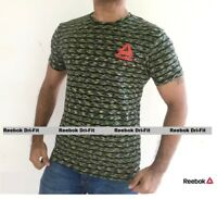 Reebok T-Shirts Mens Short Sleeve Body-Fit Crew Neck Dri-Fit tee