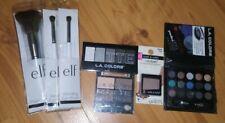 Makeup Bundle Eyeshadows L.A Colors & Wet N Wild 3 elf brushes