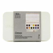 Winsor & Newton Cotman Watercolours Brush Pen Set 12 Half Pans Compact Case