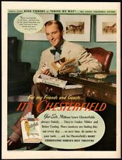 1944 CHESTERFIELD Cigarettes - Famous Singer BING CROSBY - Smoking VINTAGE AD
