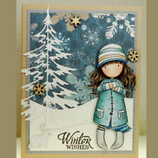 **Cutter Dies**GIRL WINTER TIME***Birthday*Christmas*Cards*Topper