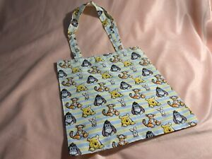 Winnie the Pooh Disney cartoon small cotton foldable shopping tote bag
