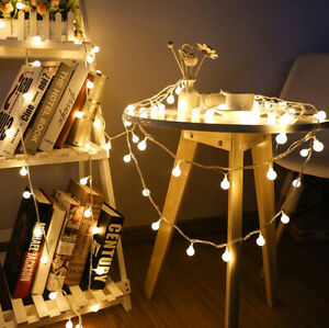 Fairy 3M Garland LED Ball String Lights For Holiday Wedding Christmas Outdoor