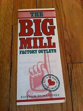 Vintage THE BIG MILL Factory Outlets Outlet Mall Reading Pennsylvania Brochure