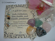 LOVE PROTECTION LUCK HEALTH & WEALTH HEALING CRYSTALS GEMSTONES CHAKRA GIFT SET