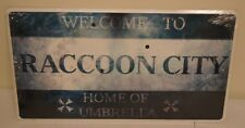 """New! Resident Evil """"Welcome to Raccoon City"""" 18""""x10"""" Limited Edition Metal Sign"""