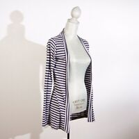 Cotton On Womens Cardigan Thin Sweater Size M Stripped Open Front