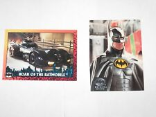 1992 BATMAN RETURNS TOPPS DC Comics Promo 2 Card SET STADIUM CLUB ADVANCE COMICS
