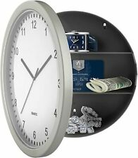 Clock Safe Hidden Wall Secret Jewelry Security Money Cash Compartment Stash Box,