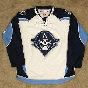 Reebok Milwaukee Admirals AHL Hockey Jersey White Alternate Third 3rd M