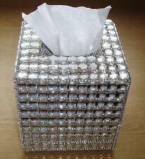 Bling  Diamante Diamond Crystal Tissue Paper Case Box Holder Refill square