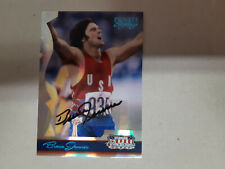 BRUCE JENNER 2007 DONRUSS AMERICANA AUTHENTIC AUTOGRAPH OLYMPIC CARD - 229/250
