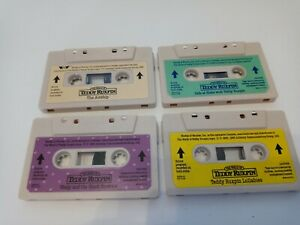 LOT 4 Worlds of Wonder Teddy Ruxpin Cassette Tapes TESTED