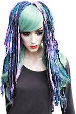 Wool Dread Hair Falls Purple Black Hair Extensions Gothic Indie Psytrance Merino