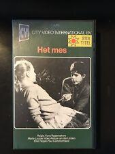 Het Mes Ex-Rental Vintage Big Box VHS Tape Dutch NL Film Videoband