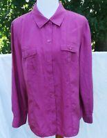 Tommy BAHAMA 100% silk, thin long sleeve Shirt Size XL, purple