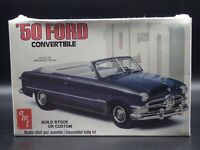 1950 50 FORD CONVERTIBLE AMT RARE 1:25 SCALE VINTAGE SEALED PLASTIC MODEL KIT