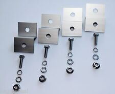 Z BRACKET SET MOUNT KIT ANODIZED ALUMINUM FOR SOLAR PANEL STAINLESS BOLTS & NUTS